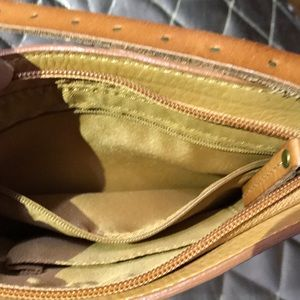 Fossil natural leather crossbody